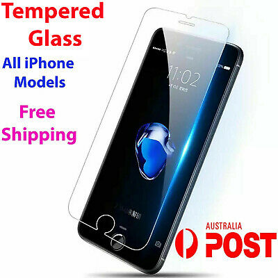 AU3.99 • Buy Tempered Glass Screen Protector IPhone 6S 11 12 PRO Max XR X XS 7 8 4 Plus 9 Ioy