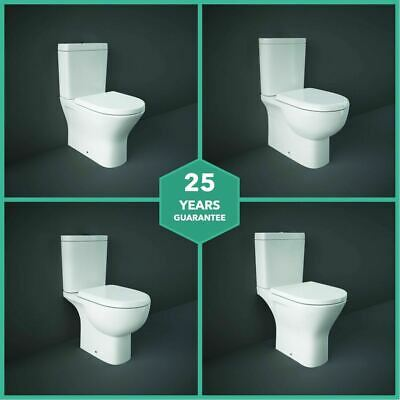 RAK Close Coupled Closed Back Or Open Back Toilet With Cistern & Soft Close Seat • 178.97£