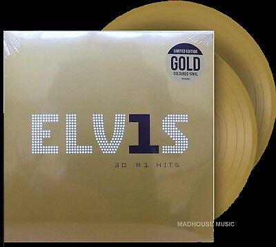 ELVIS PRESLEY LP X 2 30 #1 Hits Limited Edition GOLD VINYL 180 Gram IN STOCK • 25.65£