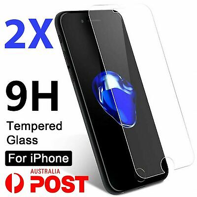AU4.35 • Buy 2x Tempered Glass Screen Protector For IPhone 7 6S 11 PRO Max XR X XS Plus 8 4 K