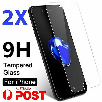 AU3.99 • Buy 2x Tempered Glass Screen Protector IPhone 7 6S 11 PRO Max XR X XS Plus 8 4 SE 5C