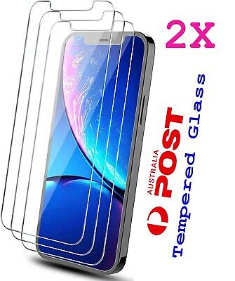 AU4.29 • Buy 2x Tempered Glass Screen Protector IPhone 6S 11 PRO Max XR X XS 7 8 4 Plus 9 KUP
