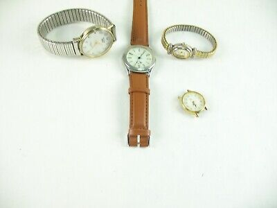 $ CDN5.25 • Buy Lot Of 4 Watches For Parts And Repair Unknown What Is Wrong With Them