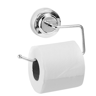 AU15.99 • Buy Stainless Steel Suction Cup Toilet Paper Roll Holder Tissue Rack No Drilling Pro