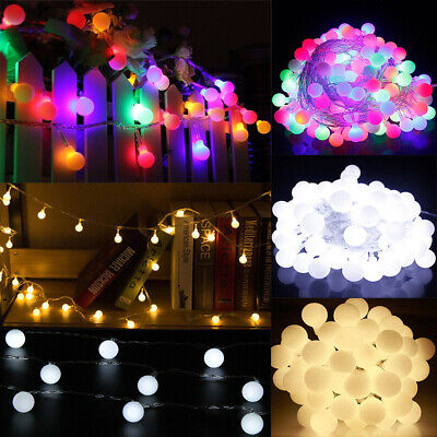 100/200 LED Berry Ball Christmas Bulb Fairy String Lights Party Outdoor Indoor • 10.48£