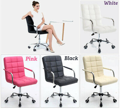 AU127.47 • Buy Home Computer Executive Office Desk Chair Faux Leather PU Swivel High Back Seat.