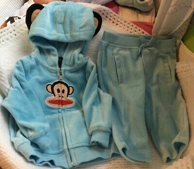 £12.99 • Buy BABY BOY OUTFIT By Paul Frank Velour 0 To 3 Months New No Label & 2 Free Tshirts