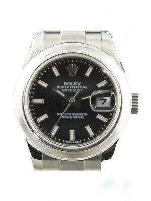 $ CDN5203.86 • Buy ROLEX  Ladies 26MM Stainless DateJust 179160 Black Index Watch Box And Papers