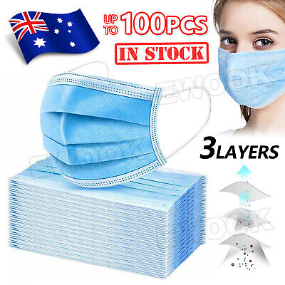 AU16.95 • Buy Face Mask Protective 3 Layer Mouth Masks Filter Ship From Sydney In Stock Now AU