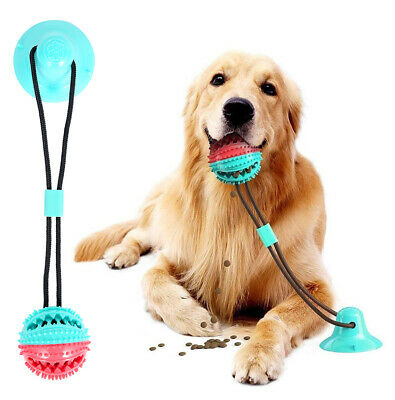 AU26.23 • Buy Pet Rubber Ball Toy With Suction Cup Dog Self-playing Durable Molar Chew Toy HOT