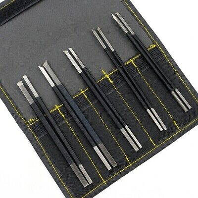 £4.69 • Buy High-carbon Steel Chisel In Bag Stone Carving Woodworkers Tools 10Pcs