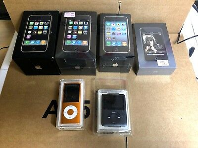 $ CDN7642.95 • Buy Collectors Lot De 6 Apple IPhone 2G 3G 3GS  Ipod Touch 1  Nano 3 4 Sealed