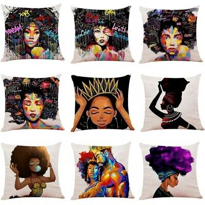 African Woman Print Cushion Cover Pillow Cover • 7.99£