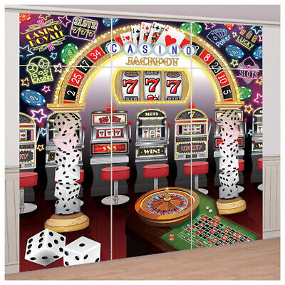 $8.99 • Buy CASINO NIGHT JUMBO WALL POSTER DECORATING KIT (9pc) ~ Birthday Party Supplies