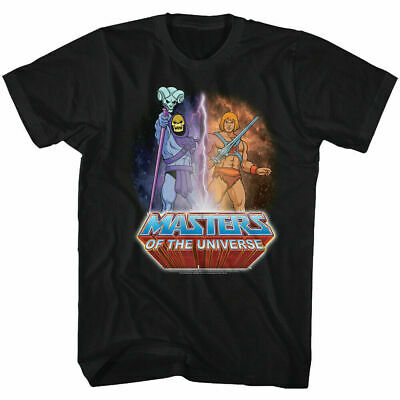 $19.99 • Buy Masters Of The Universe Lightning He-Man Skeletor T Shirt Mens Licensed TV Black
