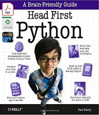 $5 • Buy Head First Python: A Brain-Friendly Guide By Paul Barry [E-VERSION]