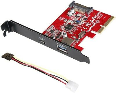 $29.95 • Buy Inateck PCI-E To USB 3.1 PCI Express Card Including Type A
