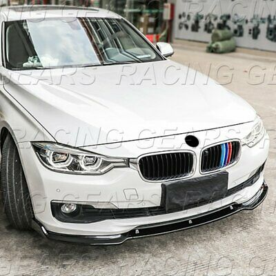 AU262.11 • Buy Real Carbon Fiber Front Bumper Lip 3-pcs Fit 13-18 Bmw F30 3-series Sedan Base