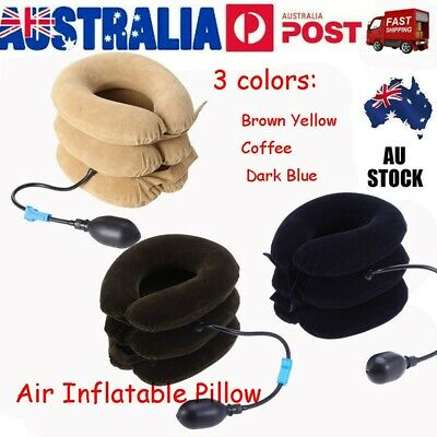AU17.99 • Buy Air Inflatable Pillow Cervical Neck Head Pain Traction Support Brace Device 2020