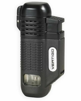 Vertigo  Equalizer  Black Quad Torch Butane Lighter, Cigar Punch • 9.38£