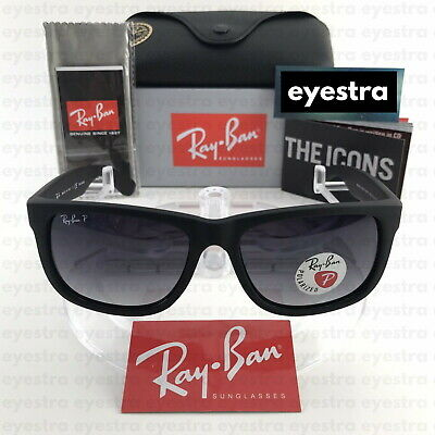 AU119.99 • Buy RayBan Justin Polarized Sunglasses RB4165 622/8G 55mm Matte Black Grey Gradient