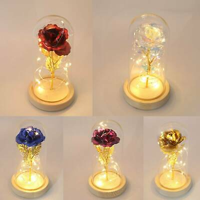 Beauty And The Beast Princess Light Up Enchanted Rose In Glass Dome Lamp • 9.39£