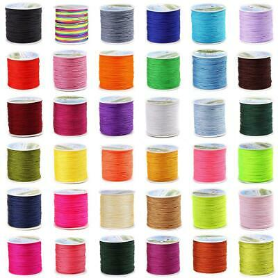 36 COLORS 100meter X 0.8mm Nylon Chinese Knot Cord Rattail Beading Thread String • 2.59£