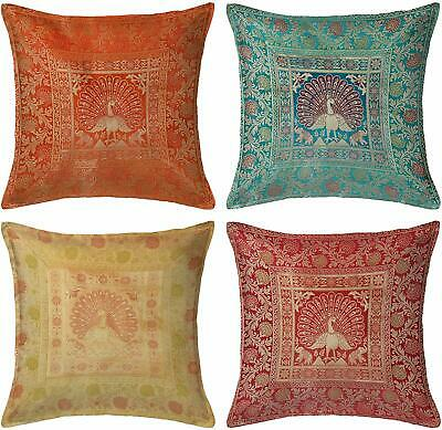 Set Of 4 Throw Pillow Covers Peacock Designs • 29.90£