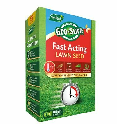 £97.75 • Buy Westland Gro-Sure Fast Acting Lawn Seed 2.4Kg Box Covers 80 Sq M