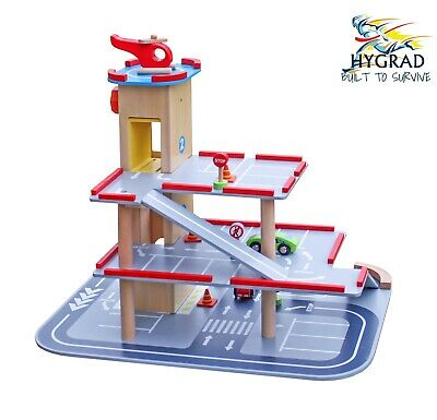 Kids Car Toy Parking Lot Garage Playset Helicopter Educational Child's Xmas Gift • 69.90£