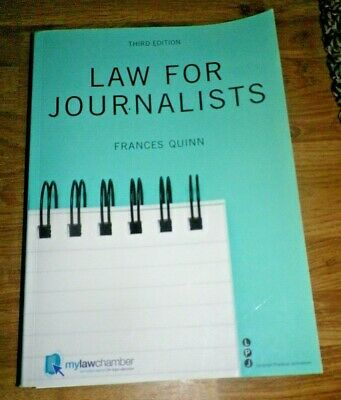 £3.99 • Buy Law For Journalists By Frances Quinn Third Edition 2011