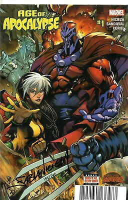 Age Of Apocalypse #1 Signed Dynamic Forces (marvel Comics)  • 10.20£