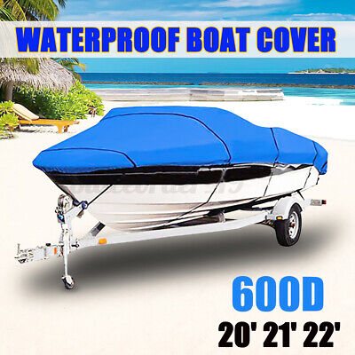 20-22FT 600D Extra Heavy Duty Waterproof Boat Speedboat V-Hull Cover Protector  • 40.59£