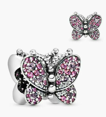 Genuine Pandora 925 ALE Silver Dazzling Pink Butterfly Crystal 797882NCCMX • 13.99£