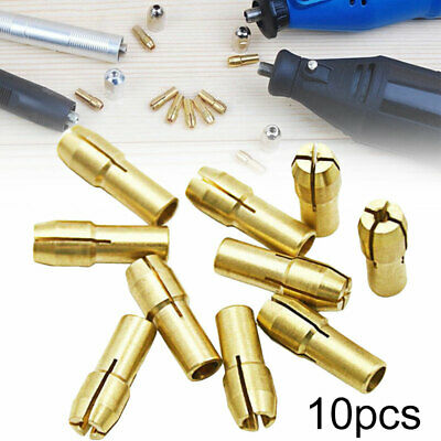 £3.24 • Buy 10Pcs Brass Brass Drill Chuck Collet Bit For Dremel Rotary Tools Accessories New