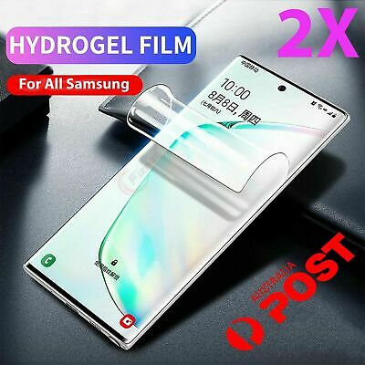 AU4.95 • Buy 2x Hydrogel Screen Protector Samsung Galaxy S10 S9 S8 Plus Note 9 8 10 S7 S2 S33