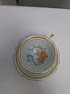 $7.50 • Buy Foley Bone China England Cup And Saucer Gold Trim Floral Light Blue