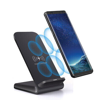 AU18.69 • Buy 15W Fast Qi Wireless Charger Dock Stand Charge For IPhone 12 XS 11 X Samsung S20