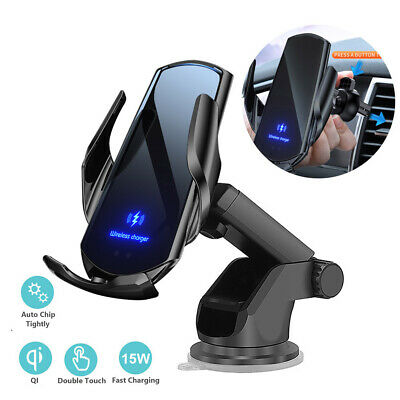 AU18.99 • Buy 15W Qi Wireless Car Charger Gravity Car Holder Air Vent Mount For IPhone 12 XR 8