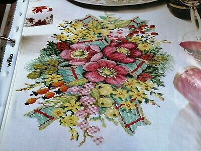 Cross Stitch Chart Christmas Winter Floral Flower Berry Chart Only • 1.99£