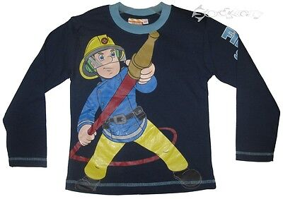 Boys Fireman Sam Long Sleeve Cotton Top Ages 1-6 Years • 4.99£