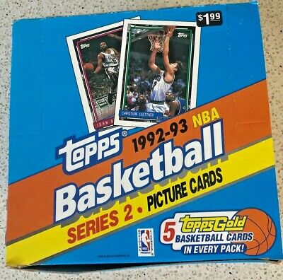AU79 • Buy 92-93 Topps NBA Basketball Series 2 Picture Cards - Brand New Unopened Box