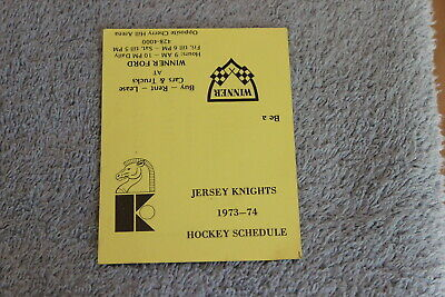 $24.99 • Buy Rare 1973 Jersey Knights WHA Hockey Double-fold Schedule