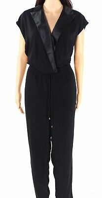 $28.99 • Buy Lauren By Ralph Lauren Womens Jumpsuit Black Size 10 Surplice Tuxedo $245- 185