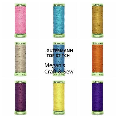 £1.90 • Buy GUTERMANN TOP STITCH  Button Sewing Thread Extra-Strong 30m (BUY 3 GET 1 FREE)