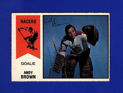$3.99 • Buy 1974-75 O-pee-chee Wha #58 Andy Brown Racers Rookie