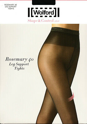 LUXUS PUR: WOLFORD Tights Rosemary 40 Leg Support (14596), L, Black, NEU&OVP • 17.20£