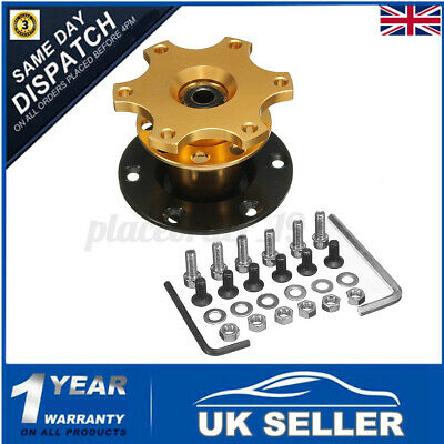 Car Gold Steering Wheel Quick Release HUB Racing Adapter Snap Off Boss Kit UK  • 13.93£