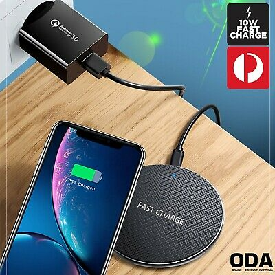 AU11.99 • Buy Qi Wireless Charger FAST Charging Pad For IPhone 11 XS XR 8 Samsung S10 S20 5G