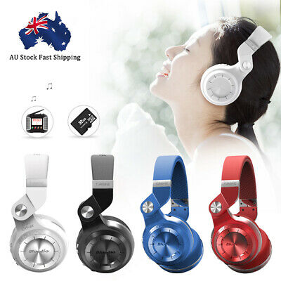 AU21.99 • Buy Bluedio T2S Wireless Headsets Bluetooth 4.2 Stereo Headphones Noise Cancelling